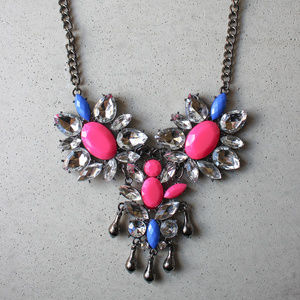 Purple and pink Statement necklace